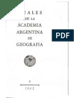 Anales de la Academia Argentina de Geografía - 1962