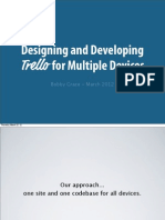 Designing and Developing Trello for Multiple Devices