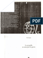 La geografía un arma para la guerra - Yves Lacoste