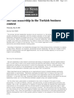 Servant Leadership in the Turkish Business Context