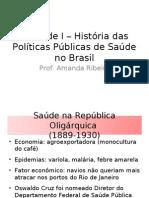 Unidade I – História das Políticas Públicas no Brasil