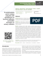 Evaluation of the combination of N-acetylcysteine and or sodium salicylate with ciprofloxacin on bacterial adhesion and biofilm formation on urinary catheters