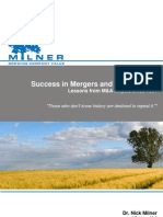 Success in Mergers and Acquisitions - Milner LLP Literature Review February 2010