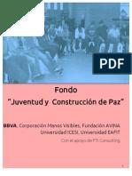 Convocatoria-fondo Juventud y Paz