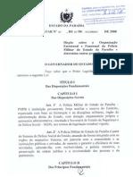 Lei Complementar 87-2008 - Organização da PMPB