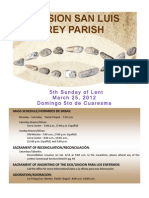 Bulletin for Mission San Luis Rey Parish 3-25-2012