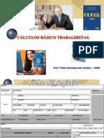 CURSO DE EXTENSÃO - CÁLCULOS TRABALHISTAS