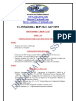 Curricula 4ta Diplomatura Sst 2011