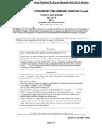 Unit 3 Review AP USH Essay Prompts