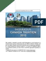 Canada Taxation 2012