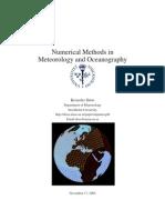 Numerical Methods in Meteorology and Oceanography