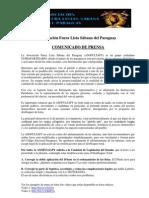 Comunicado de Prensa ASOFULSAPY 22-03-12