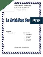 La variabilidad genética y sus fuentes