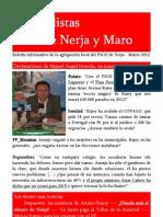 PSOE de Nerja, Boletín Marzo 2012
