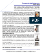 Thermoanalytical Instruments List