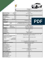 Isuzu Specification - DMax LX 4x2