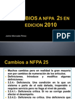 .Cambios a Nfpa 25 en Edicion 2010[1]