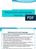 Behaviorism and Language Learning