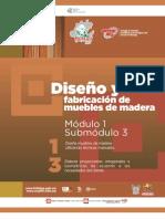 Guía Formativa, DISEÑO Y FABRICACION DE MUEBLES DE MADERA 13, CECyTEH. Gobierno Hidalgo