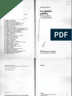 La Opinion Publica Esfera Publica y Comunicacion - Vincent Price