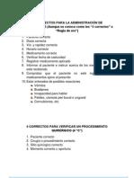 10 CORRECTOS PARA LA ADMINISTRACIÓN DE MEDICAMENTOS