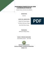 Informe de Lab Oratorio Quimica Angely
