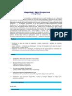 Bioseguridad y Salud Ocupacional