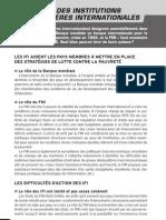 Le Role Des Institutions Financieres Inter Nation Ales