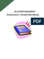 Prueba Deprocesamiento Fonol Gico y de Lectura Inicial