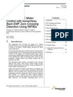 3-Phase BLDC Motor Control With Sensor Less Back EMF Zero Crossing Detection Using 56F80x