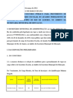 EditalSMA69-Regulamenta Concurso Secret a Rio Escolar