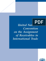 UN Convention on Assignment of Receivables