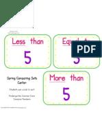 Spring Comparing Sets Center