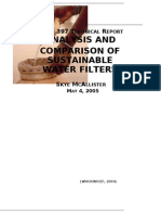 Analysis and Comparison of Sustainable Water Filters New