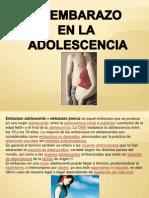 El Embarazo en La Adolescencia