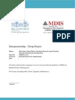 Entrepreneurship Group Project