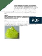 Belerang Atau Sulfur Adalah Mineral Yang Dihasilkan Oleh Proses Vulkanisme