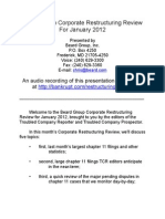 Beard Group Corporate Restructuring Review for January 2012