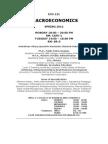 Macroeconomics Syllabus