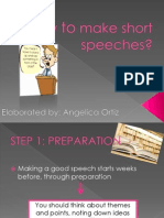 How to Make Short Speeches