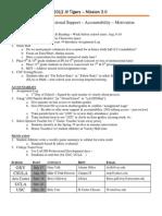 2012 - Mission 3.0 Ideas