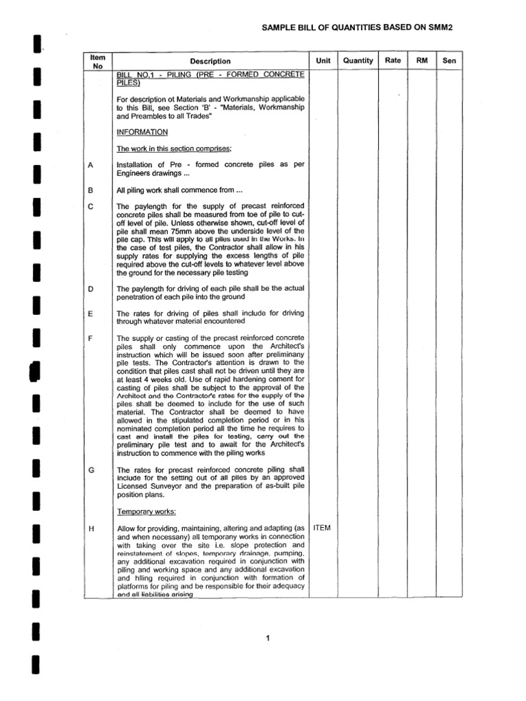 taking off quantities for substructure pdf