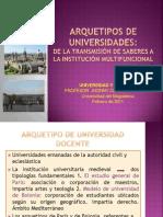 ARQUETIPOS DE UNIVERSIDADES