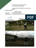 Informe Deportivo,lúdico-Recreativo Del Mes de Noviembre