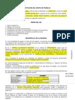Acta Constitutiva de Grupo de Trabajo