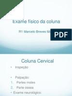 Exame Físico da Coluna