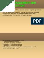 Crisis Management and Communication