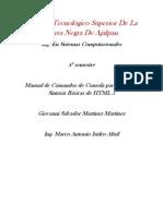 Manual de Comandos de Debain y HTML 5