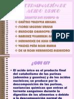 DETRMINACIÓN DE ACIDO  URICO