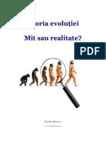 Teoria evolutiei - mit sau realitate?